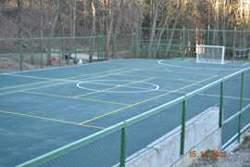Площадка для игры в футбол и в волейбол в  санатории Родник Кисловодск