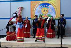 Выступление казачьего  атаманского ансамбля танцев в санатории Родник Кисловодск